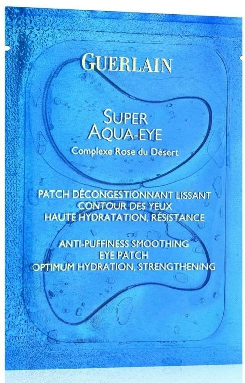 Mască pentru zona ochilor - Guerlain Super Aqua-Eye Anti-Puffness Smoothing Eye Patch — Imagine N1