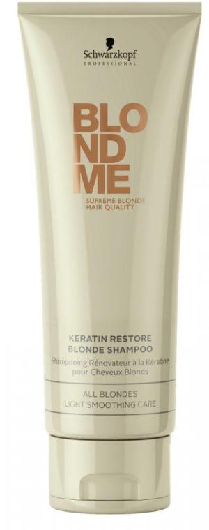 Șampon regenerant cu keratina pentru păr blond - Schwarzkopf Professional BlondMe Keratin Restore Blonde Shampoo — Imagine N1