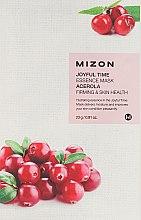 Parfumuri și produse cosmetice Mască de țesut cu extract de vișini - Mizon Joyful Time Essence Mask Acerola