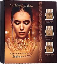 Parfumuri și produse cosmetice Set - La Sultane De Saba Gold & Champagne Gold Anti-Ageing Gift Set (f/cr/50ml + f/mask/50ml + f/scrub/50ml)