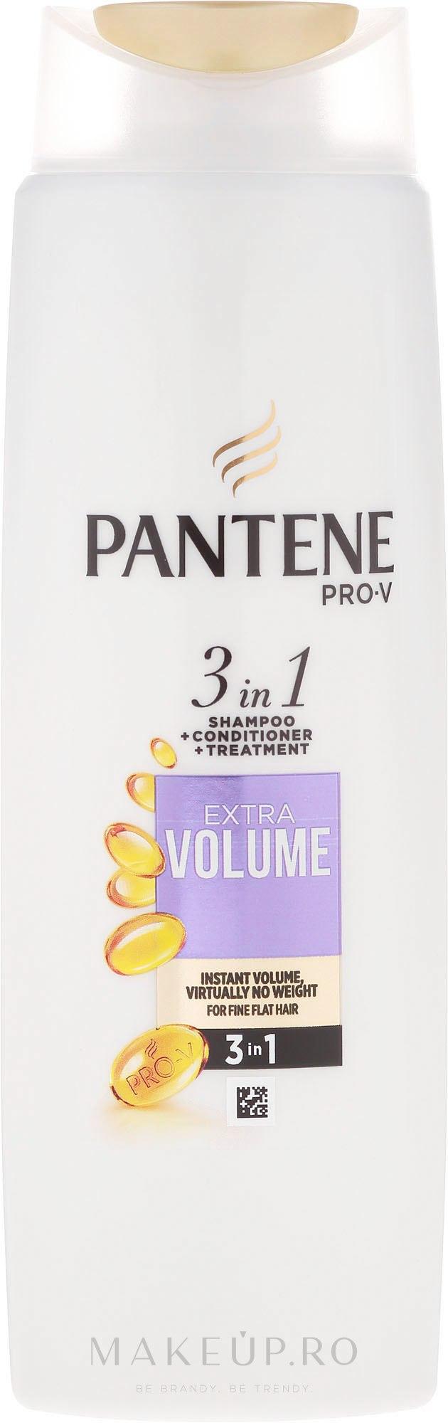 Șampon 3în1 pentru păr - Pantene Pro-V 3in1 Extra Volume Shampoo — Imagine 225 ml