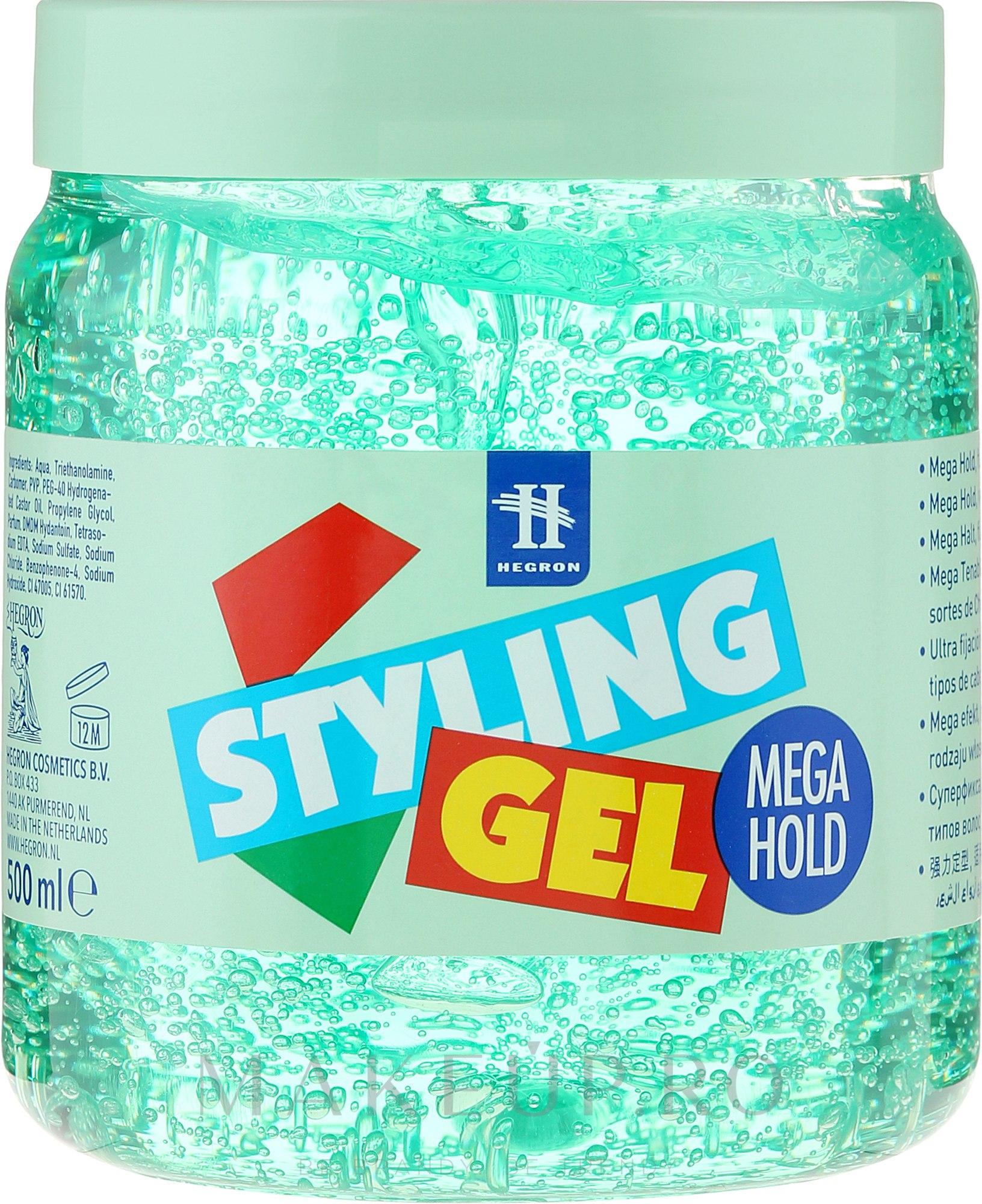 Gel pentru modelarea părului - Tenex Styling Wetlook Green Gel — Imagine 500 ml