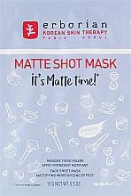 Parfumuri și produse cosmetice Mască matifiantă din țesătură pentru față - Erborian Matte Shot Mask