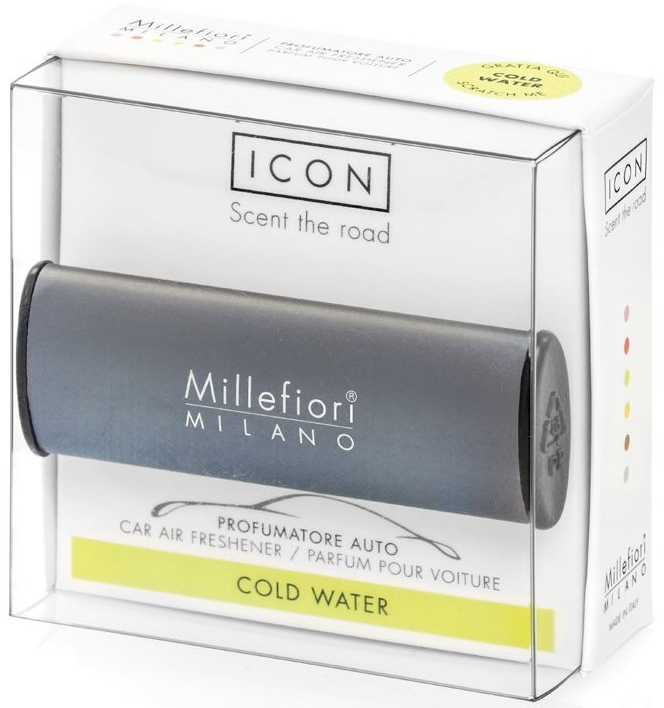 "Aromatizator auto ""Classic: apă rece"" - Millefiori Milano Icon Car Air Freshener Cold Water — Imagine N1"