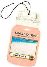 "Parfumuri și produse cosmetice Aromatizator ""Nisipuri roz"" - Yankee Candle Pink Sands Car Jar Ultimate"