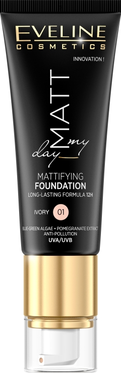 Fond de ten - Eveline Cosmetics Matt My Day Mattifying Foundation