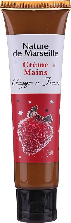 "Set ""Căpșuni și Șampanie"" - Nature De Marseille (sh/gel/150ml +cr/60ml + b/balm/100ml + soap/95g) — Imagine N3"