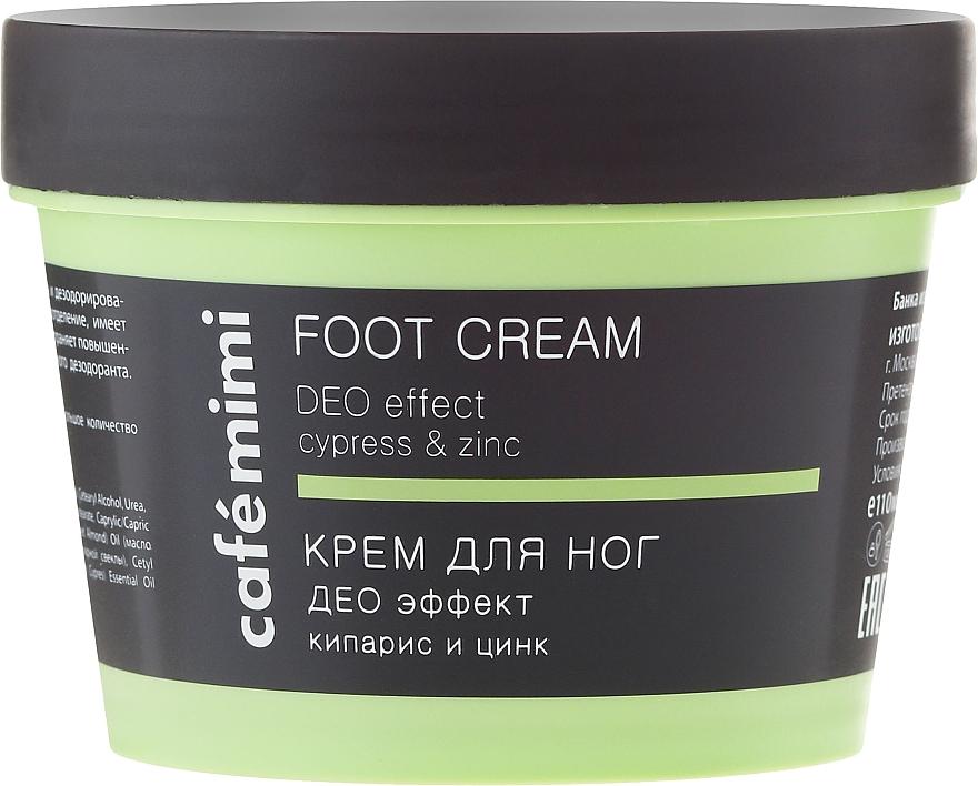 Cremă pentru picioare - Cafe Mimi Foot Cream Deo Effect — Imagine N2