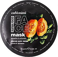 """Parfumuri și produse cosmetice Mască de față """"Dovleac și anghinare"""" - Cafe Mimi Face Mask"""