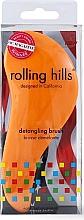 Parfumuri și produse cosmetice Perie de păr, orange - Rolling Hills Detangling Brush Travel Size Orange