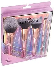 Parfumuri și produse cosmetice Set pensule de machiaj, 5 buc., 37351 - Top Choice Rose Gold