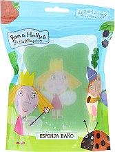 """Parfumuri și produse cosmetice Burete de baie """"Ben și Holly"""", Holly, pentru copii, verde - Suavipiel Ben & Holly"""
