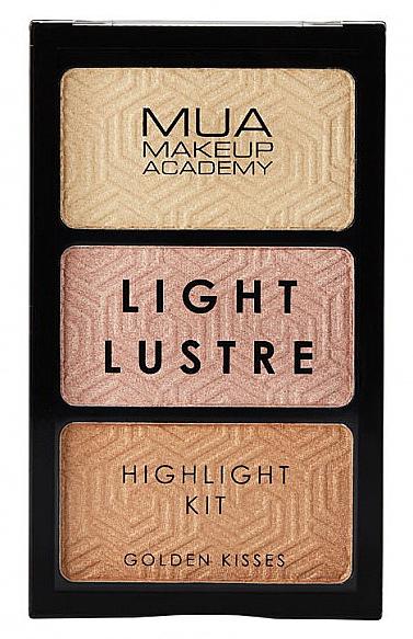 Paletă highlighter - MUA Light Lustre Trio Highlight