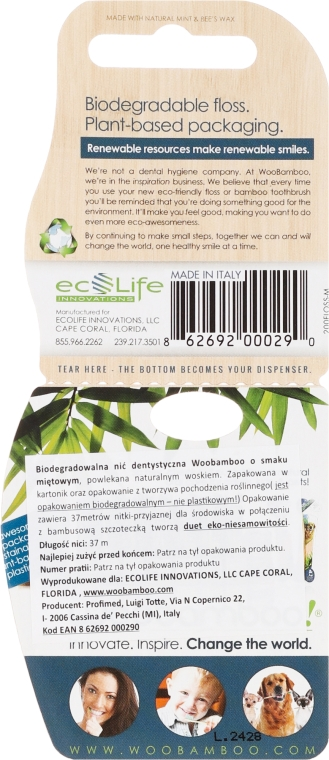 Ață dentară - WooBamboo Eco Dental Floss Mint — Imagine N2