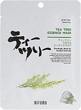 Parfumuri și produse cosmetice Mască din țesătură cu ulei de arbore de ceai pentru față - Mitomo Tea Tree Essence Mask