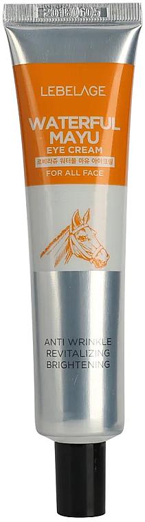Cremă hidratantă pentru zona ochilor (cu extract de grăsime de cal) - Lebelage Waterfull Mayu Eye Cream