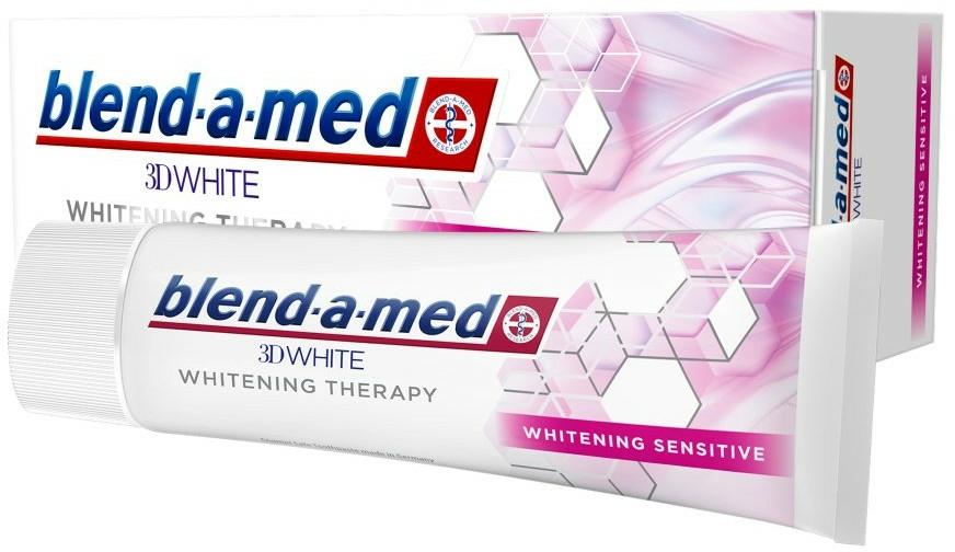 """Pastă de dinți """"Înălbire pentru dinți sensibili"""" - Blend-a-Med 3D White Whitening Therapy Sensitive — Imagine N1"""