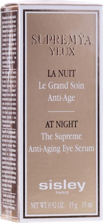 Cremă pentru zona ochilor - Sisley Supremya Yeux At Night The Supreme Anti-Aging Eye Serum  — Imagine N2