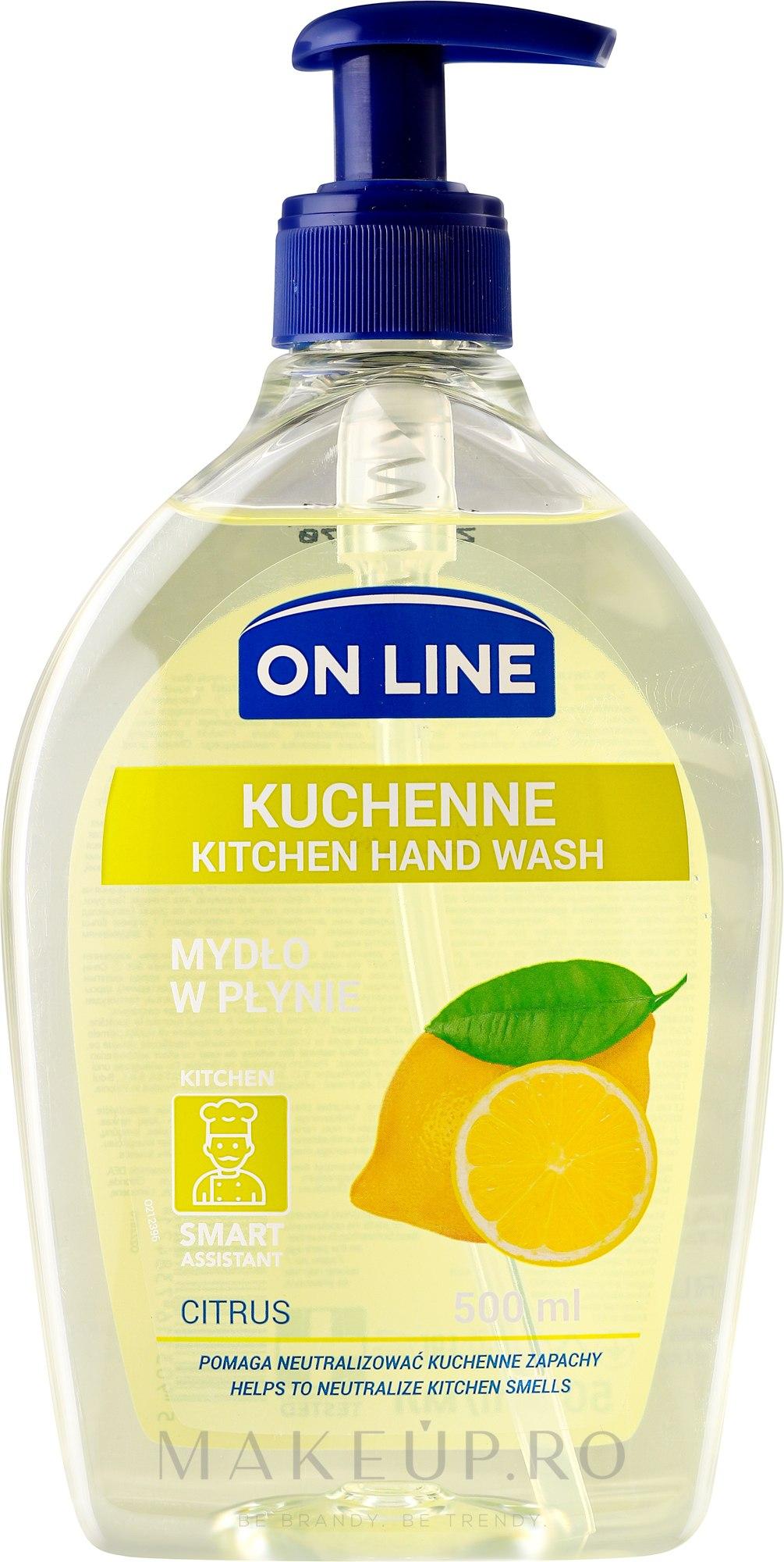 Săpun de bucătărie - On Line Kitchen Hand Wash Citrus Soap — Imagine 500 ml