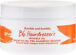 Șampon pentru păr - Bumble And Bumble Hairdresser's Invisible Balm-To-Oil Pre-Shampoo Masque — Imagine N2