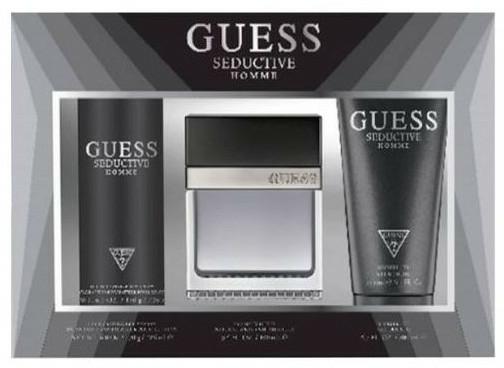 Guess Seductive Homme - Set (Edt/100 + deo/spray/226ml + sh/gel/200ml)