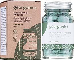 """Parfumuri și produse cosmetice Tablete pentru apă de gură """"Arbore de ceai"""" - Georganics Natural Mouthwash Tablets Tea Tree"""