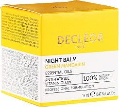 Parfumuri și produse cosmetice Balsam de noapte pentru față - Decleor Green Mandarin Glow Night Balm