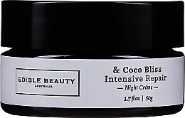 Parfumuri și produse cosmetice Cremă de față - Edible Beauty Coco Bliss Intensive Repair Night Creme