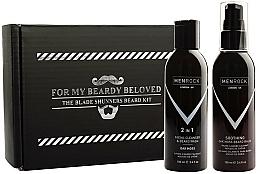 Parfumuri și produse cosmetice Set - Men Rock Oak Moss Beard Wash & Balm Set (beard wash/100ml + beard balm/100ml)