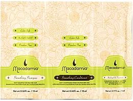 Parfumuri și produse cosmetice Set - Macadamia Smoothing Trio Packette (mini) (sh/10ml + cond/10ml + h/oil/5ml)