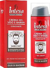 Parfumuri și produse cosmetice Gel pentru față și barbă - Intesa Gel Cream Face And Beard