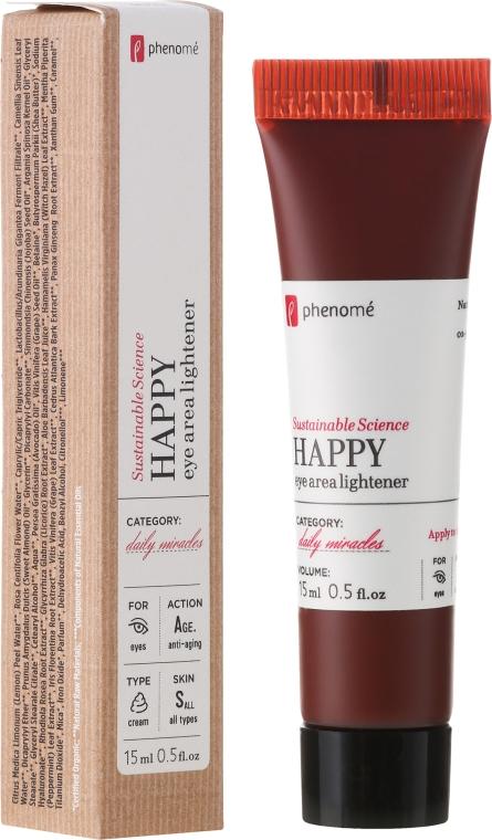"Cremă pentru zona din jurul ochilor ""Happy"" - Phenome Happy Eye Area Lightener — Imagine N1"
