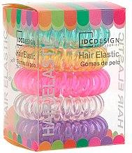 Parfumuri și produse cosmetice Set elastice multicolore pentru păr, silicon, 5 buc - IDC Institute Design Hair Bands Pack