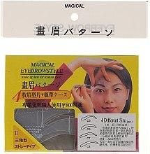 Parfumuri și produse cosmetice Șabloane pentru sprâncene, mărime C5, C6, C7, C8 - Magical Eyebrow Style