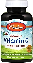 Parfumuri și produse cosmetice Vitamine C Gummies, cu aromă naturală de mandarine - Carlson Labs Kid's Chewable Vitamin C