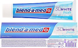 """Parfumuri și produse cosmetice Pastă de dinți """"Prospețime răcoritoare"""" - Blend-A-Med 3D White Fresh Cool Water Toothpaste"""