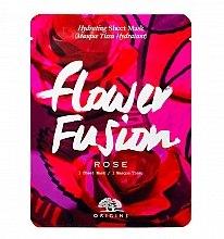 Parfumuri și produse cosmetice Mască din țesătură cu trandafir pentru față - Origins Flower Fusion Rose Hydrating Sheet Mask