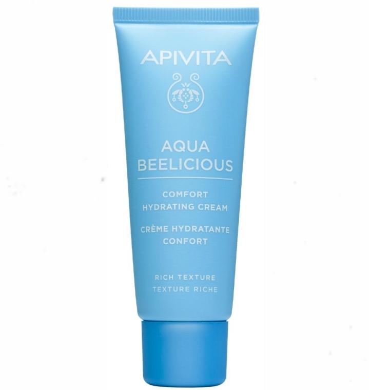 Cremă profund hidratantă pentru față - Apivita Aqua Beelicious Comfort Hydating Cream Rich Texture — Imagine N1