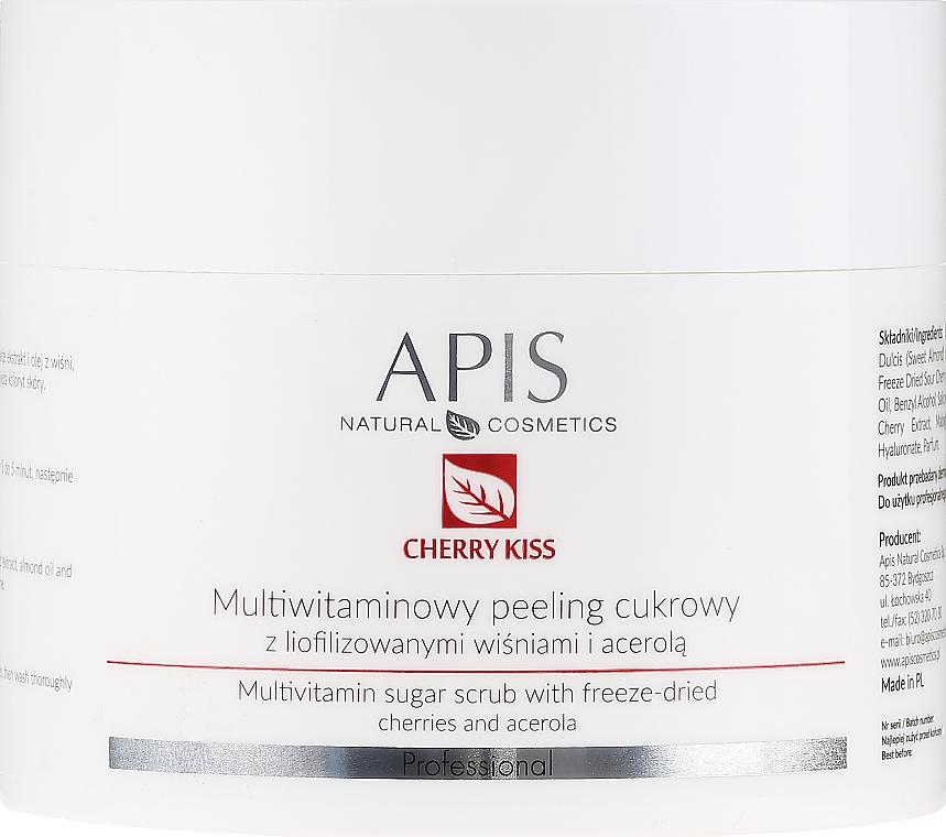 Peeling multivitaminic de zahăr pentru față - APIS Professional Cheery Kiss