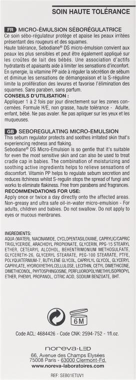 Emulsie pentru păr - Noreva Sebodiane DS Sebum-Regulating Micro-Emulsion — Imagine N3