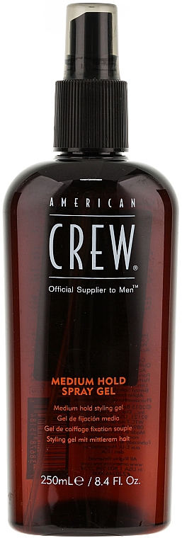 Spray-gel pentru fixare medie - American Crew Classic Spray Gel — Imagine N1