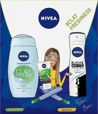 Set - Nivea Box Clay Freshness (sh/gel/250ml+clay/wash/150ml+deo/150ml) — Imagine N1