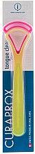 Parfumuri și produse cosmetice Periuță pentru curățarea limbii CTC 203, galben + roz - Curaprox Tongue Cleaner