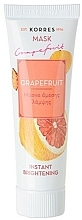 "Parfumuri și produse cosmetice Mască iluminatoare ""Grapefruit"" - Korres Grapefruit Instant Brightening Mask"