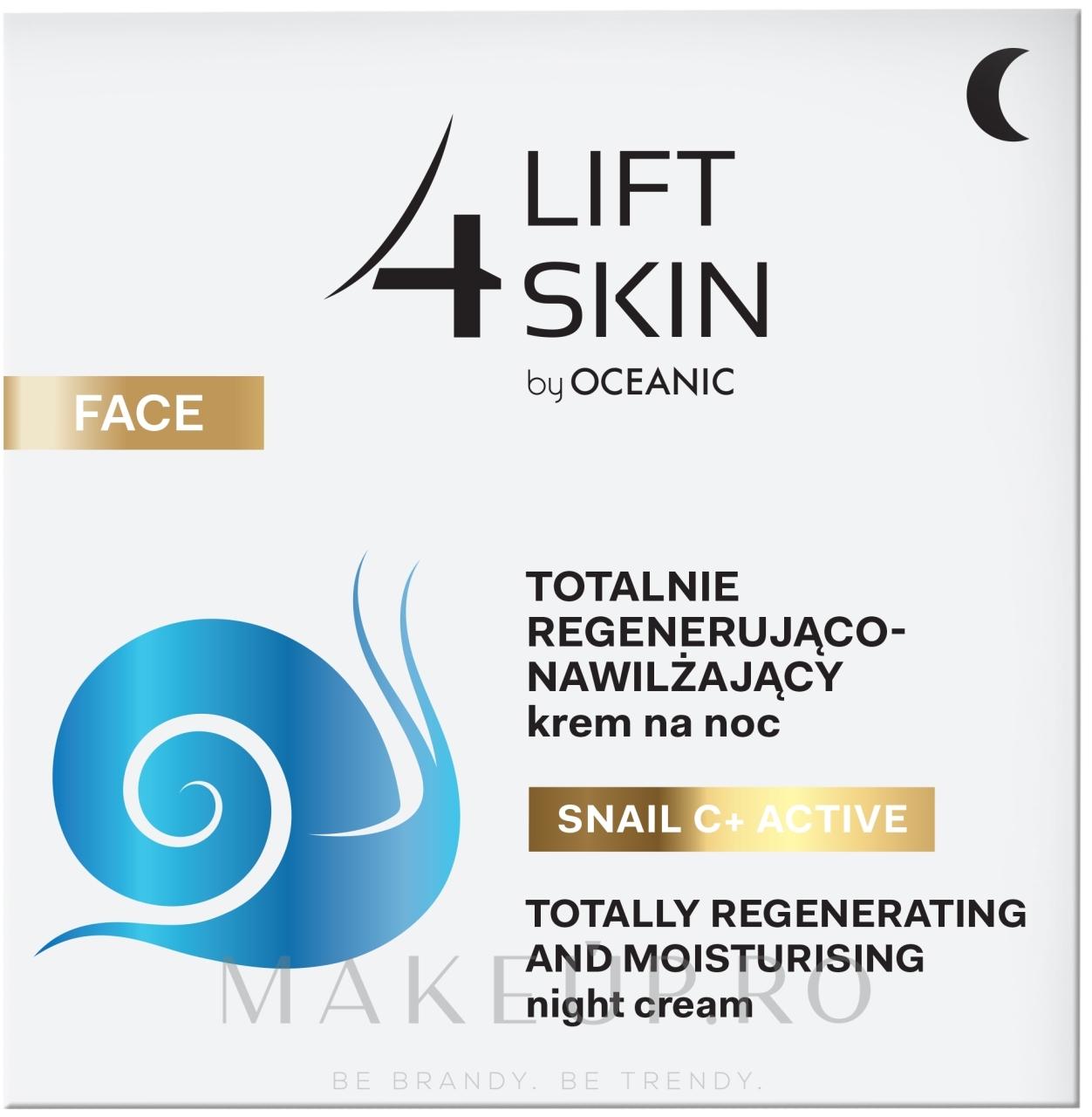 Cremă de noapte intens hidratantă și netezitoare - Lift4Skin Snail C+ Night Cream — Imagine 50 ml