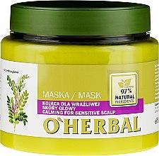 Parfumuri și produse cosmetice Mască pentru scalp sensibil - O'Herbal
