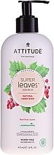 """Parfumuri și produse cosmetice Săpun pentru mâini """"Frunze de struguri roșii"""" - Attitude Natural Red Vine Leaves Foaming Hand Soap"""