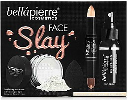 Parfumuri și produse cosmetice Set - Bellapierre Face Slay Kit Fair/Medium (stick/8.6g+powder/6.5g+spray/70ml+sponge/1pcs)