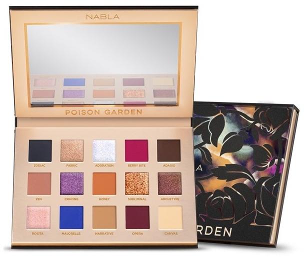 Paletă de nuanțe cu farduri de ochi - Nabla Poison Garden