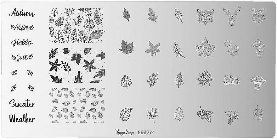 Șabloane pentru unghii - Peggy Sage Stamping Plate (1bucată) — Imagine N1